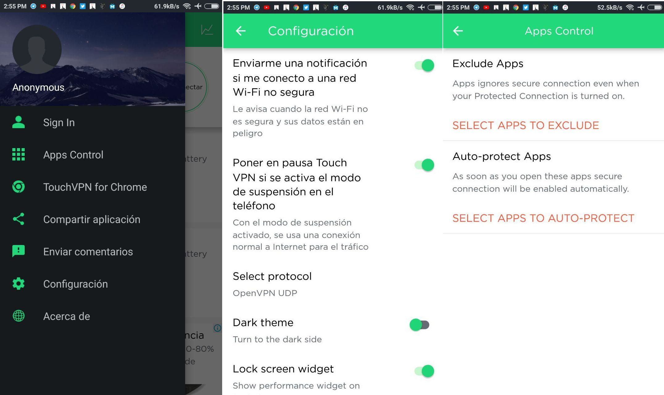 descagar y configurar touch vpn apk gratis vip premium